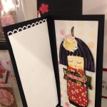 Kokeshi doll cards... it's a gift! $8.