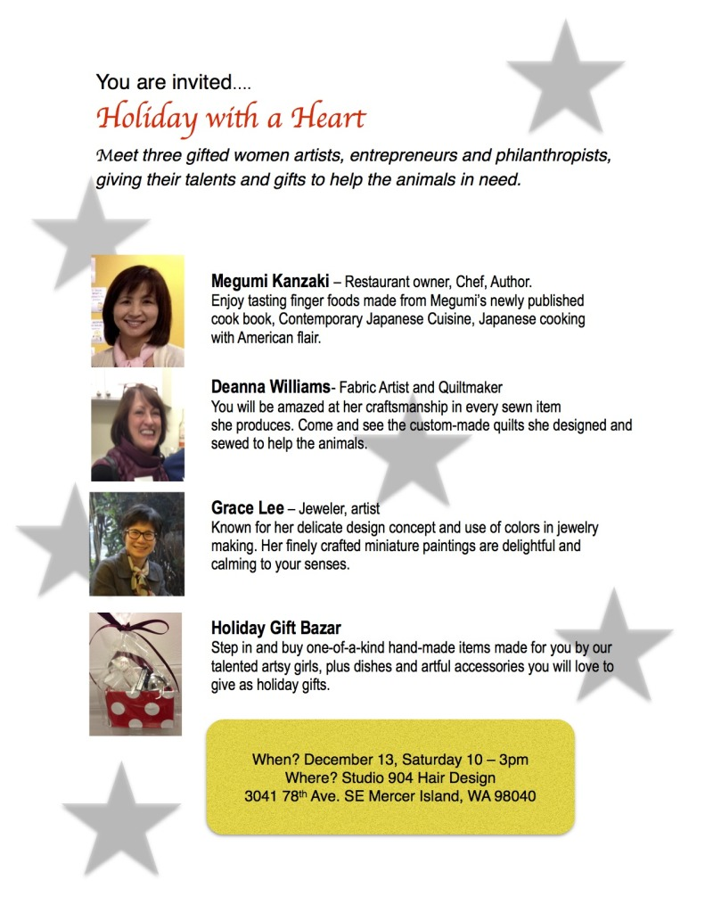 You are invited…  Holiday with a Heart