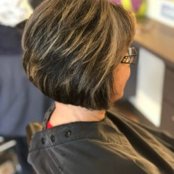 Janet layered bob with highlights